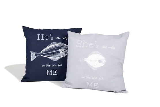 Tyynyliina Fish in the sea Grey - Tyynyt - 410834-95-0 - 1