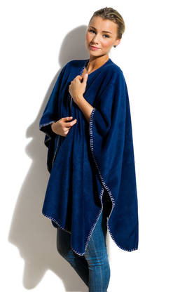 Poncho fleece navy - Peitot - 410717-58